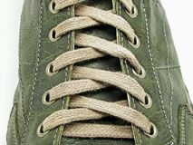 Shoe laces in close-up Stock Photography