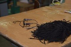 Shoe laces Stock Images