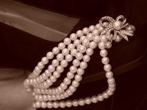 Shoe Laden With Pearls Royalty Free Stock Image