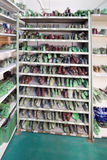 Shoe lasts on a shelf Royalty Free Stock Photography