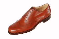 Shoe leather. High quality brown shoe leather stock images