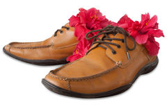 Shoe leather Stock Photo