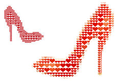 Shoe love, vector Stock Photos