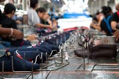 Shoe making factory Stock Photos