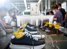 Shoe making factory Stock Photo