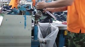 Shoe making process Stock Image