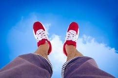 Shoe of a man who Stock Photo