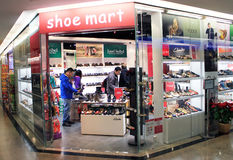 Shoe mart shop in hong kong Stock Image
