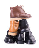 Shoe. men's fashion shoe on a background Royalty Free Stock Photography