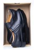 Shoe. men's fashion shoe on a background Royalty Free Stock Photo