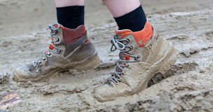 Shoe in mud Stock Photography