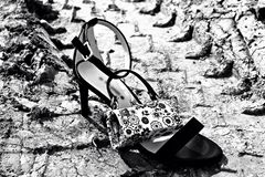 Shoe in the mud Royalty Free Stock Photo