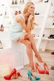 Shoe paradise. Royalty Free Stock Image