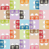 Shoe pattern Royalty Free Stock Images