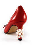 Shoe with pearls Stock Photography