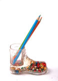 Shoe Pencil Holder Royalty Free Stock Photo