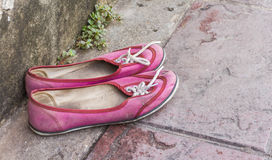 Shoe pink color for design or decorate project Stock Photo