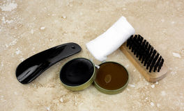Shoe Polish Kit Complete Tile Background Royalty Free Stock Photography