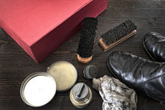 Shoe polish Stock Image