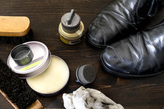 Shoe polish Royalty Free Stock Photos