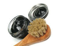 Shoe polish tools Stock Photo