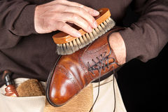 Shoe polisher Royalty Free Stock Photos