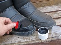 Shoe polishing Stock Photos