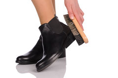 Shoe Polishing Stock Images