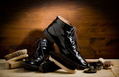 Shoe polishing tools Stock Photography