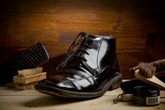 Shoe polishing tools Royalty Free Stock Photography