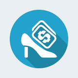 Shoe price icon Royalty Free Stock Photo
