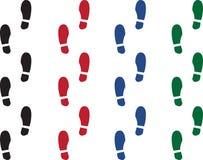 Shoe Print Colors vector illustration