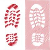Shoe print illustration royalty free stock photos
