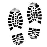 Shoe Print Silhouette Stock Image
