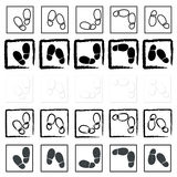 Shoe prints Royalty Free Stock Images