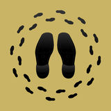 Shoe Prints Royalty Free Stock Image