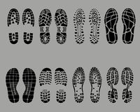 Shoe prints Royalty Free Stock Photography