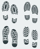 Shoe Prints Vector 3. Shoe print patterns of various shoe and boot treads created in Adobe Illustrator Royalty Free Stock Photo