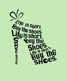 Shoe from quotes Royalty Free Stock Photos