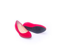 Shoe. red and fashion woman shoes on a background. Royalty Free Stock Image