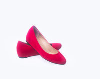 Shoe. red and fashion woman shoes on a background. Royalty Free Stock Photo