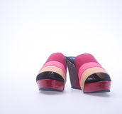 Shoe. red and fashion woman shoes on a background. Royalty Free Stock Images