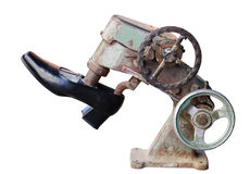 Shoe repair royalty free stock photo