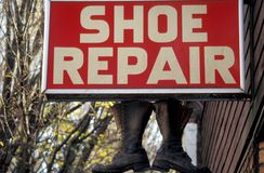 Shoe Repair Royalty Free Stock Photo