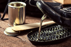 Shoe repair Royalty Free Stock Images