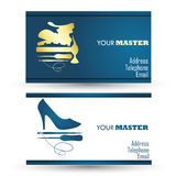 Shoe repair business card Royalty Free Stock Photo