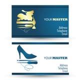 Shoe repair business card Royalty Free Stock Photo