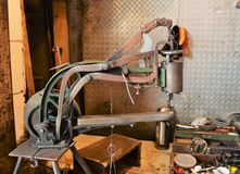 Shoe Repair Machine stock images
