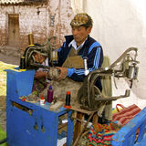 Shoe repairman,  Peru Royalty Free Stock Photography
