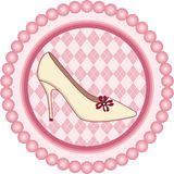 Shoe Round Label Royalty Free Stock Photos